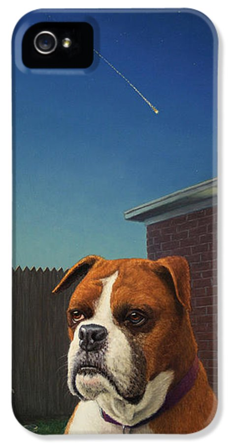 Watchdog IPhone 5 Case featuring the painting Watchdog by James W Johnson