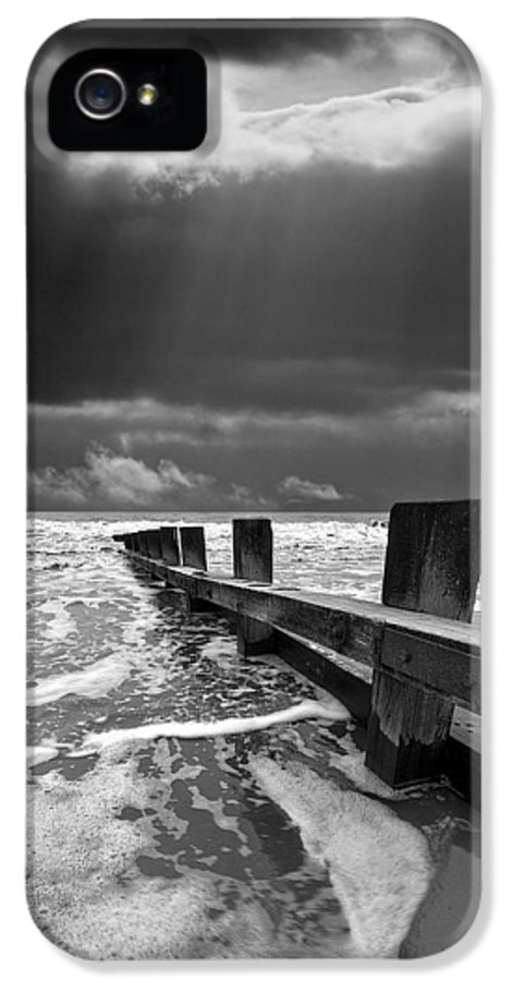 Groyne IPhone 5 / 5s Case featuring the photograph Wave Defenses by Meirion Matthias