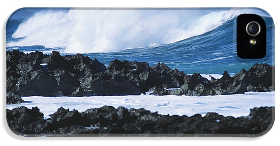 Afternoon IPhone 5 Case featuring the photograph Waves And Rocks by Kyle Rothenborg - Printscapes
