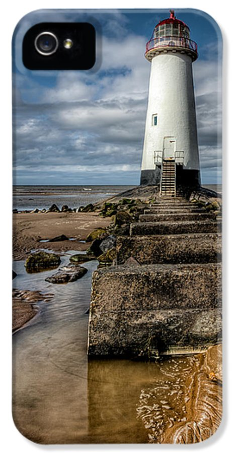 Beach IPhone 5 Case featuring the photograph Welsh Lighthouse by Adrian Evans