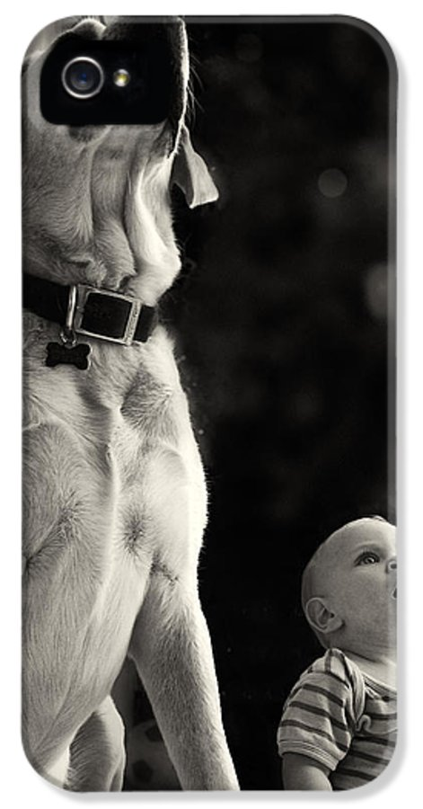 Child IPhone 5 Case featuring the photograph What Is That by Stelios Kleanthous