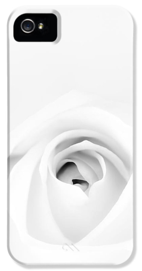 White IPhone 5 / 5s Case featuring the photograph White Rose by Scott Norris