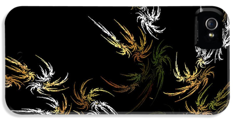 Fractals IPhone 5 Case featuring the digital art Wild And Free by Bonnie Bruno