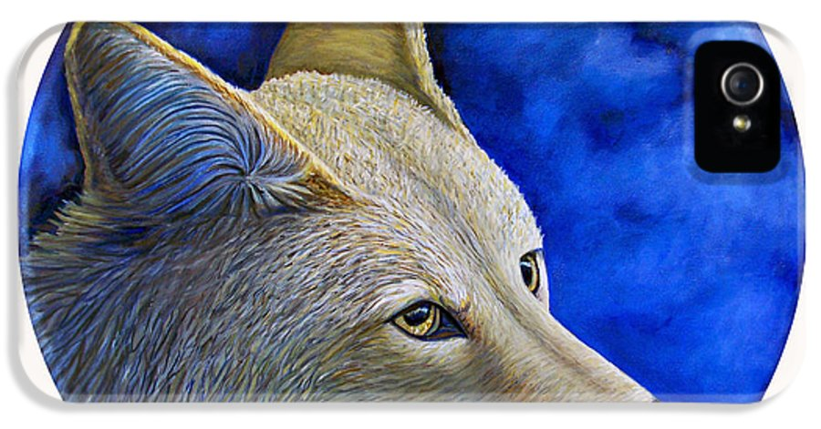 Coyote IPhone 5 Case featuring the painting Wiley Coyote by Brian Commerford