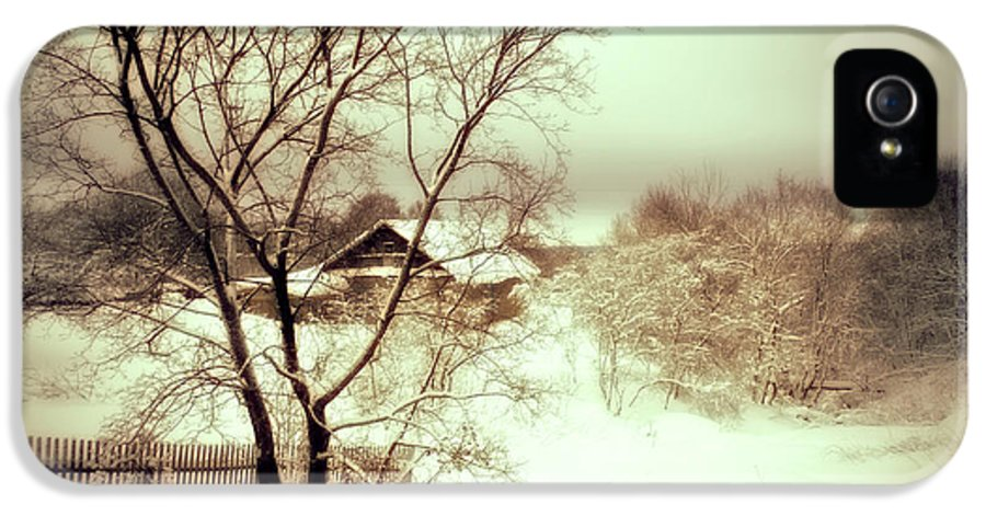 Winter IPhone 5 Case featuring the photograph Winter Loneliness by Jenny Rainbow