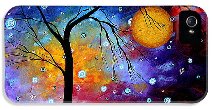 Abstract Paintings IPhone 5 Case featuring the painting Winter Sparkle By Madart by Megan Duncanson