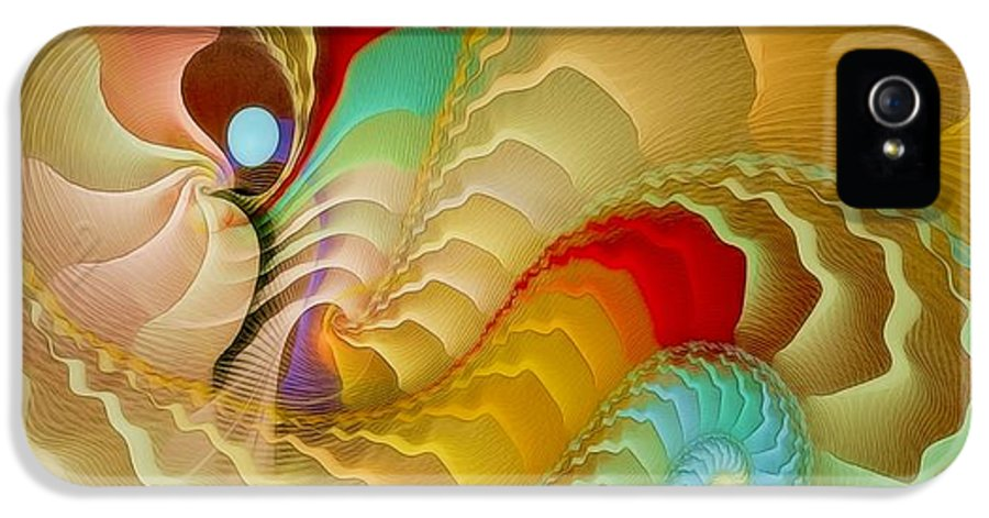 Fractal IPhone 5 Case featuring the digital art With A Gentle Breath by Gayle Odsather