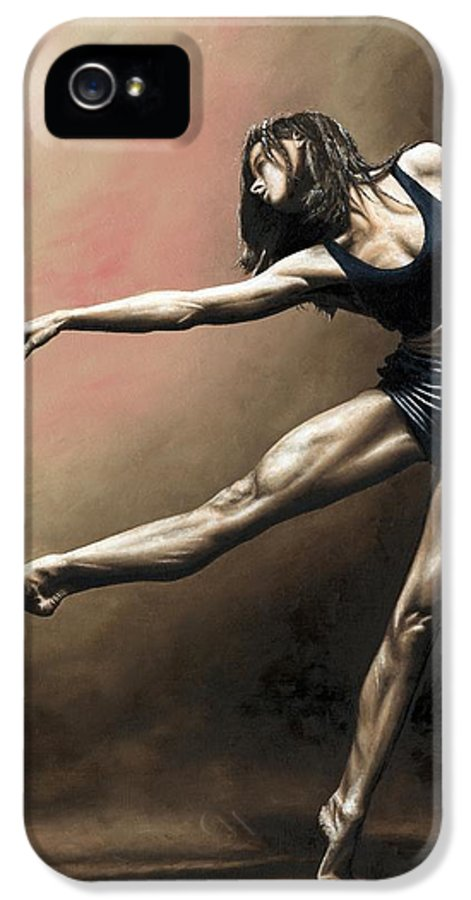 Dancer IPhone 5 Case featuring the painting With Strength And Grace by Richard Young