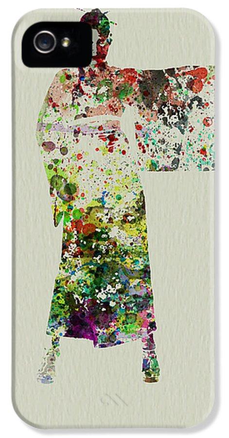 Kimono IPhone 5 Case featuring the painting Woman In Kimono by Naxart Studio