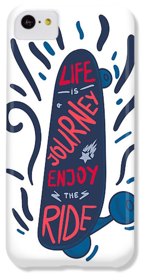 Freestyle IPhone 5c Case featuring the digital art Inspirational Vintage Lettering by Barsrsind