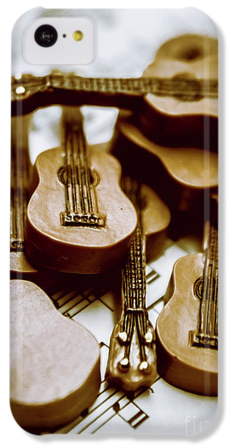Music IPhone 5c Case featuring the photograph Band Of Live Acoustic Guitars by Jorgo Photography - Wall Art Gallery