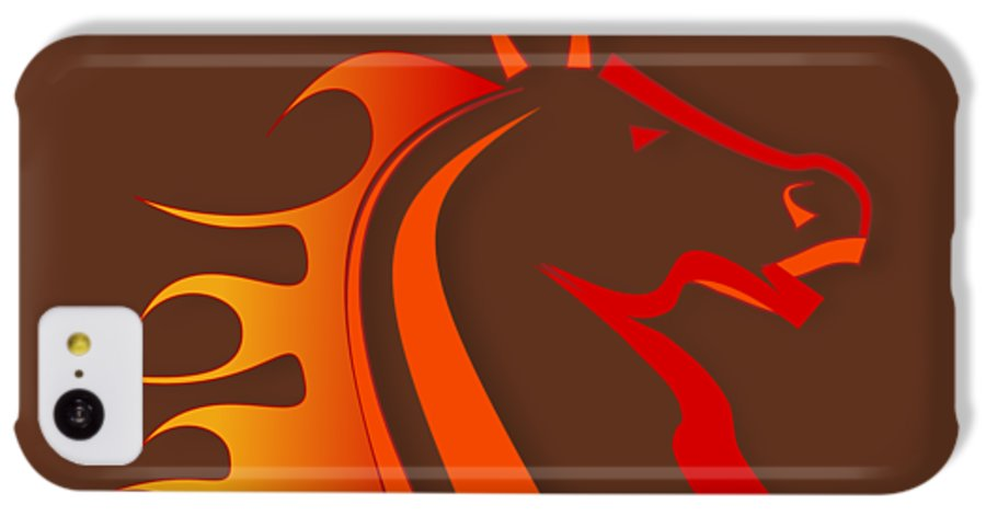 Horse IPhone 5c Case featuring the digital art Fire Horse by Scott Davis