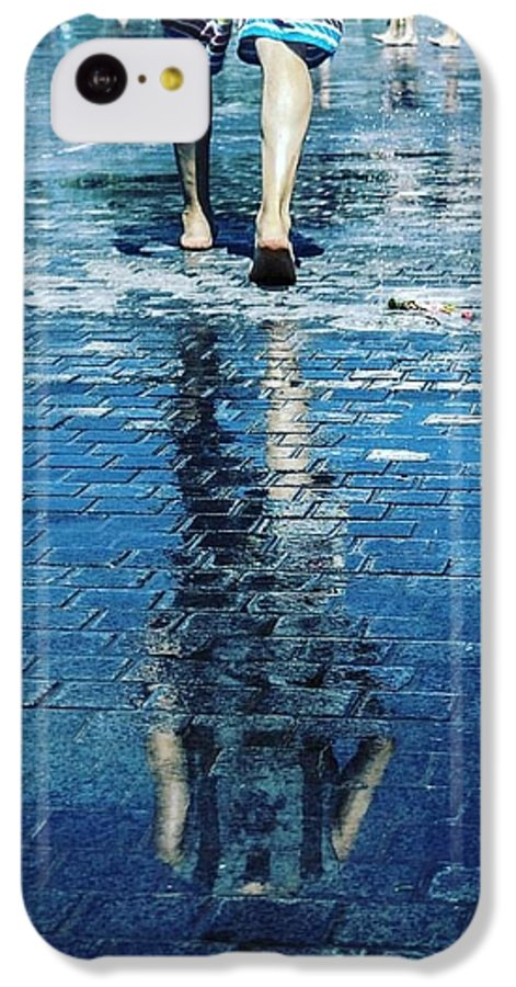 Man IPhone 5c Case featuring the photograph Walking On The Water by Nerea Berdonces Albareda