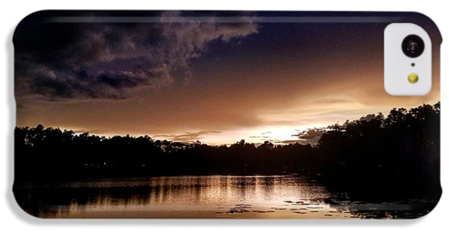 Sunset IPhone 5c Case featuring the photograph Dark Reflections by Shena Sanders