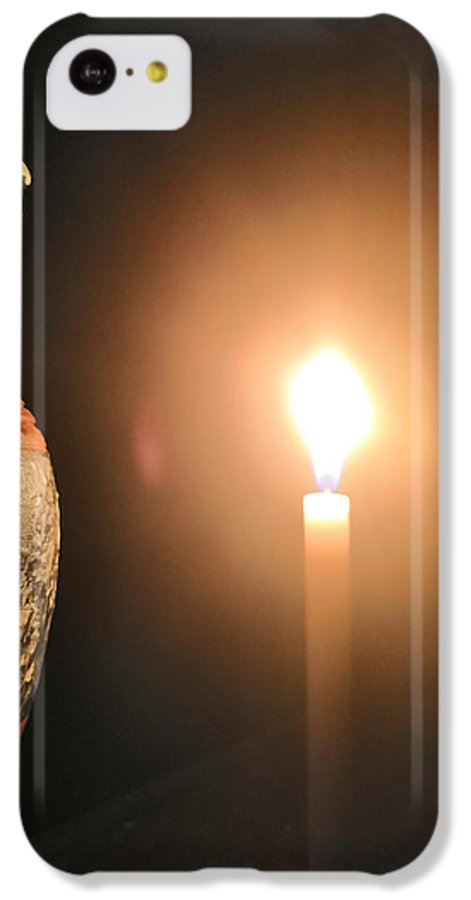 Candle Light IPhone 5c Case featuring the photograph Light in the dark by Ian Batanda