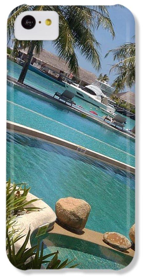 Water IPhone 5c Case featuring the photograph Maldivies by Aswini Moraikat Surendran