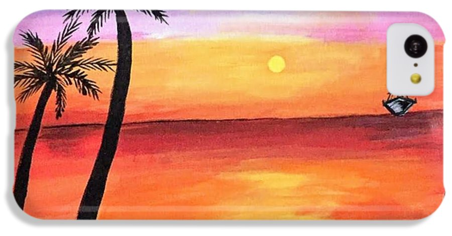 Canvas IPhone 5c Case featuring the painting Scenary by Aswini Moraikat Surendran