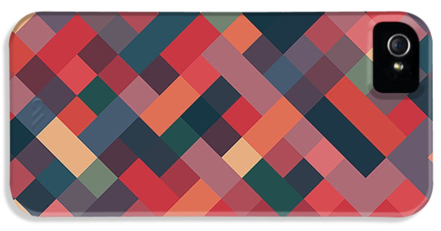 Abstract IPhone 5s Case featuring the digital art Pixel Art by Mike Taylor