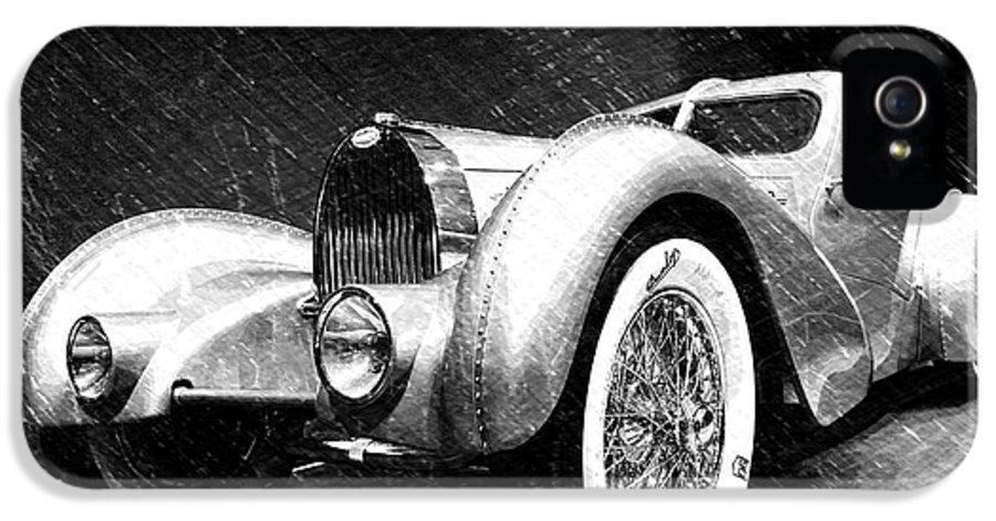 Bugatti IPhone 5s Case featuring the photograph Bugatti Type 57 Aerolithe by Dick Goodman