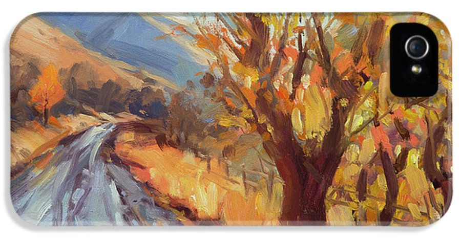 Country IPhone 5s Case featuring the painting After An Autumn Rain by Steve Henderson