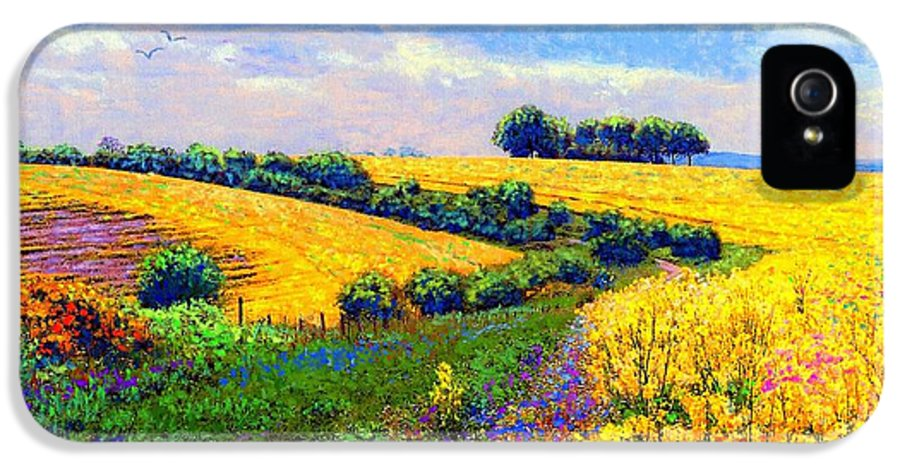 Sun IPhone 5s Case featuring the painting Fields Of Gold by Jane Small