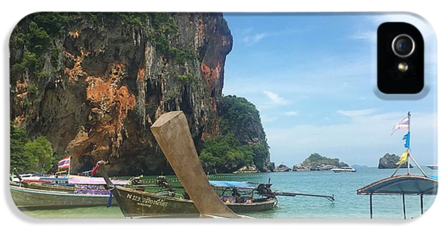 Thailand IPhone 5s Case featuring the photograph Lounging Longboats by Ell Wills