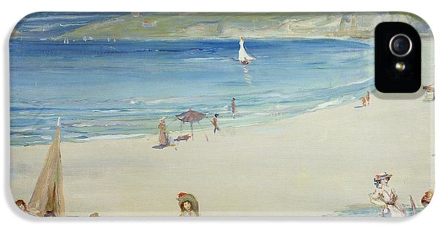Silver IPhone 5s Case featuring the painting Silver Sands by Charles Edward Conder