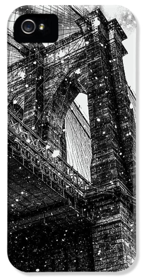 Snow IPhone 5s Case featuring the digital art Snow Collection Set 07 by Az Jackson