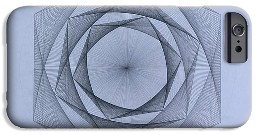 Jason Padgett IPhone 6 Case featuring the drawing  Energy Spiral by Jason Padgett