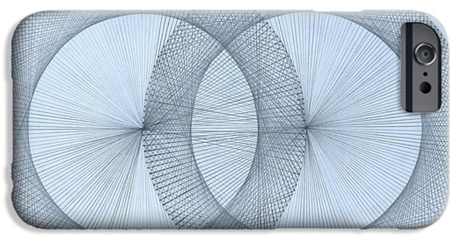 Fractal IPhone 6 Case featuring the drawing Magnetism by Jason Padgett