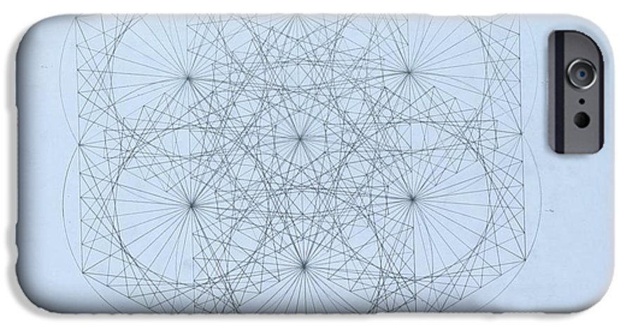 Jason Padgett IPhone 6 Case featuring the drawing Quantum Snowflake by Jason Padgett