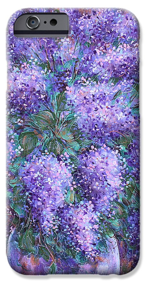 Flowers IPhone 6 Case featuring the painting Scented Lilacs Bouquet by Natalie Holland