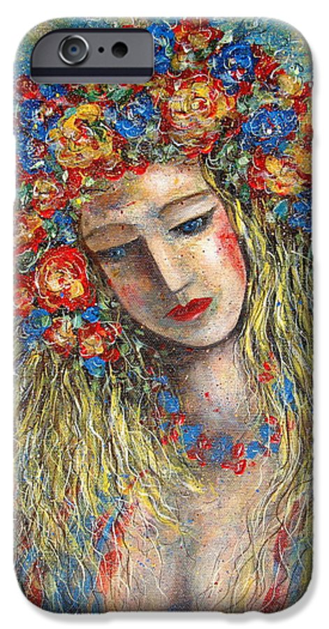 Painting IPhone 6 Case featuring the painting The Loving Angel by Natalie Holland