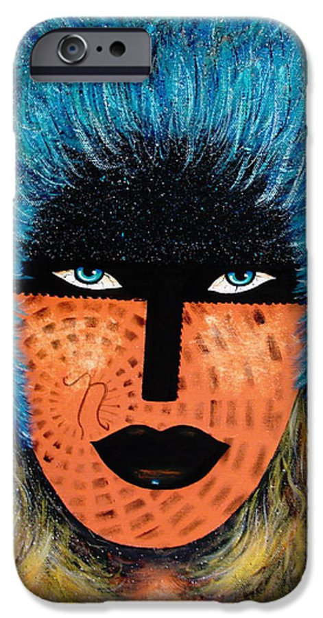 Woman IPhone 6 Case featuring the painting Viva Niva by Natalie Holland
