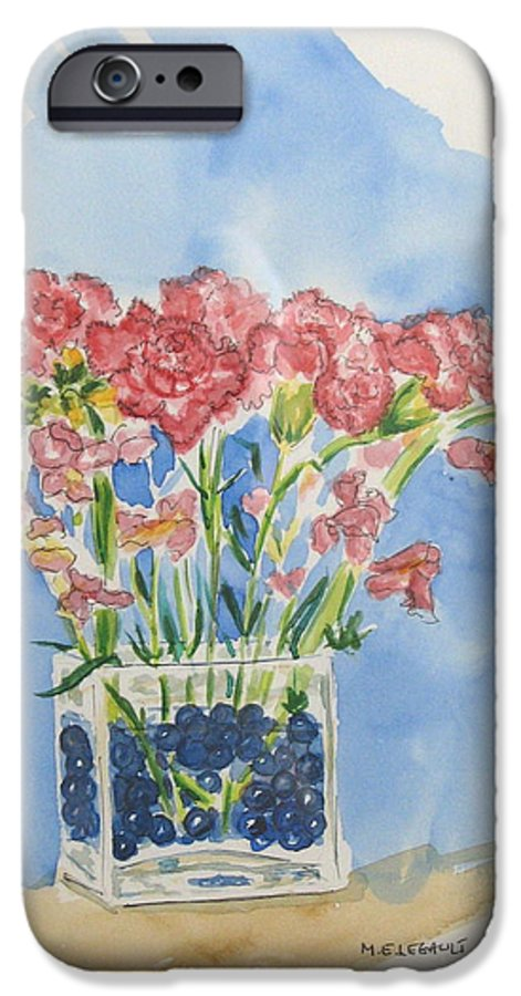 Flowers IPhone 6 Case featuring the painting Flowers In A Vase by Mary Ellen Mueller Legault