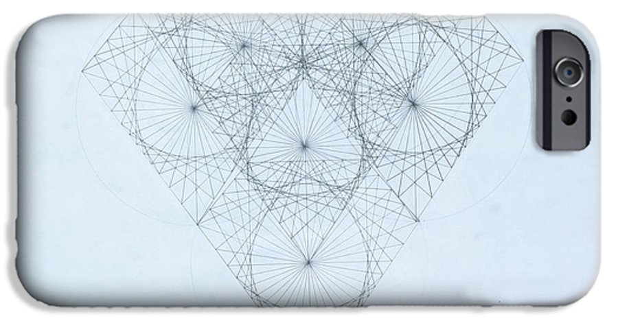 Jason Padgett IPhone 6 Case featuring the drawing Diamond Quanta by Jason Padgett