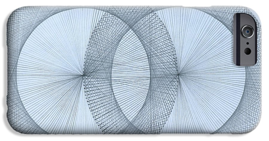 Magnet IPhone 6 Case featuring the drawing  Magnetism by Jason Padgett