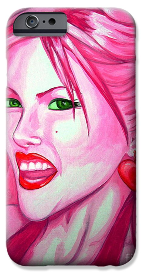 Anna Nicole IPhone 6 Case featuring the painting Anna by Holly Picano