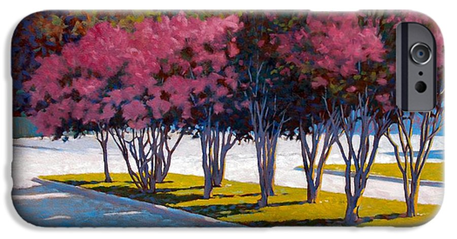 Crepe Myrtles IPhone 6 Case featuring the painting Balanced Account by Kevin Lawrence Leveque