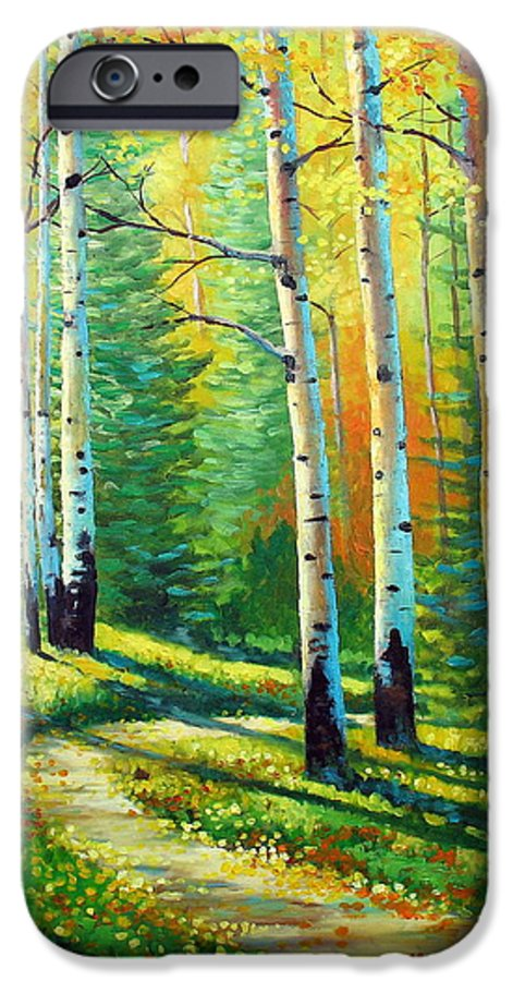 Landscape IPhone 6 Case featuring the painting Colors Of The Season by David G Paul