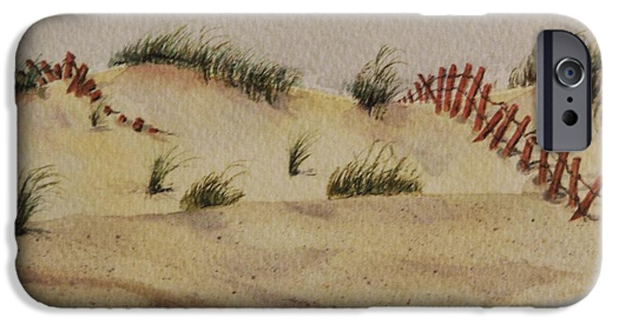Sand IPhone 6 Case featuring the painting Dunes by Mary Ellen Mueller Legault