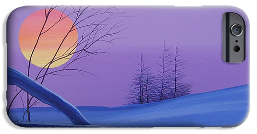 Mountains IPhone 6 Case featuring the painting Silent Snow by Hunter Jay