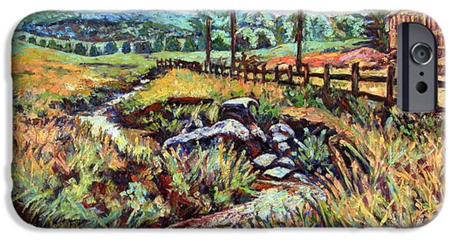 Landscape Paintings IPhone 6 Case featuring the painting Stroubles Creek by Kendall Kessler
