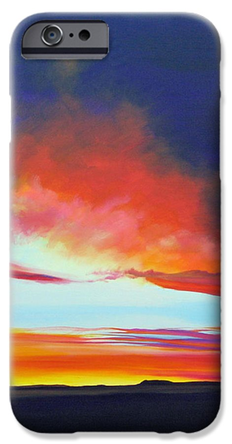 Landscape IPhone 6 Case featuring the painting The Long Way Home by Hunter Jay
