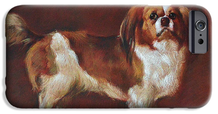Pastel IPhone 6 Case featuring the painting A King Charles Spaniel by Iliyan Bozhanov