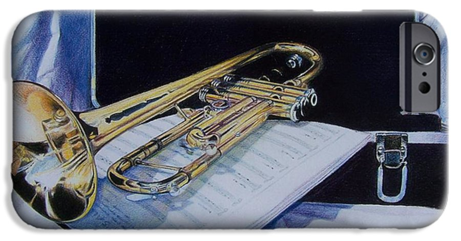 Instrument IPhone 6 Case featuring the mixed media Aaron's Pride by Constance Drescher
