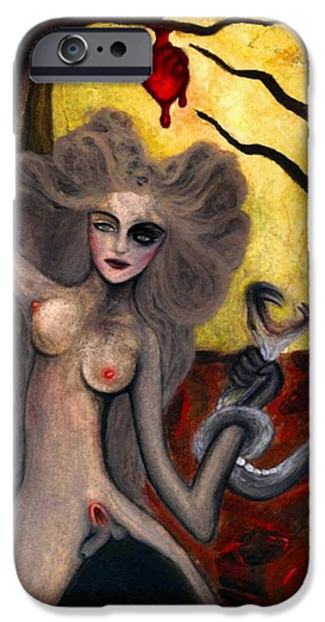 Aykaayka.com IPhone 6 Case featuring the painting Adam And Eve by Ayka Yasis
