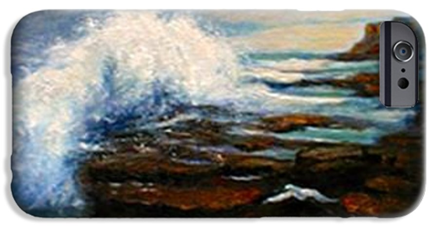 Seascape IPhone 6 Case featuring the painting After The Storm by Gail Kirtz