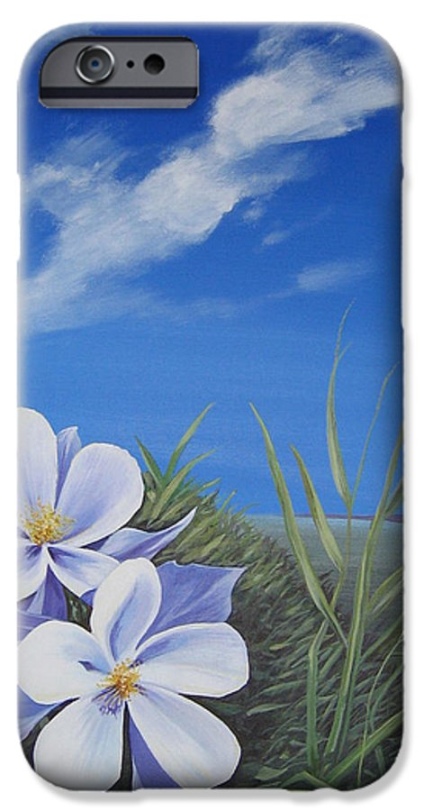 Landscape IPhone 6 Case featuring the painting Afternoon High by Hunter Jay