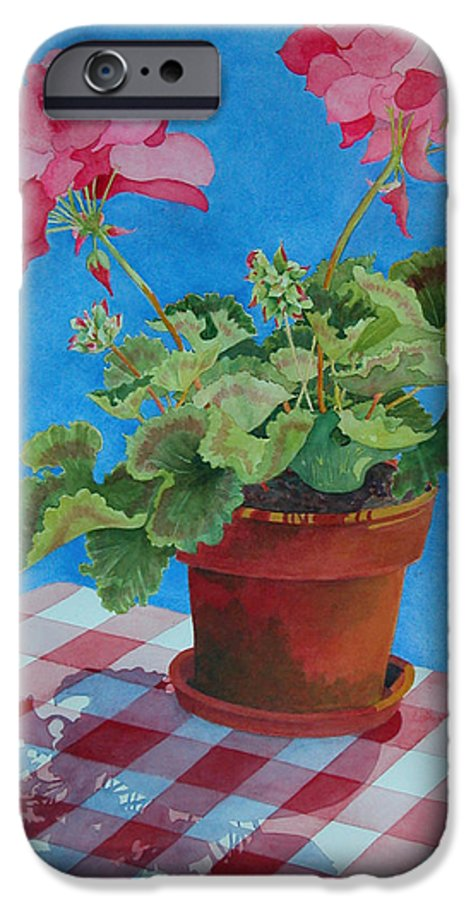 Floral. Duvet IPhone 6 Case featuring the painting Afternoon Shadows by Mary Ellen Mueller Legault